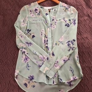 Wednesday's Give Back Button Down Floral Blouse